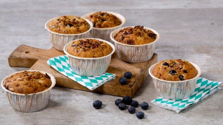 Grove blåbærmuffins – perfekt til søndagsturen ellersofakosen