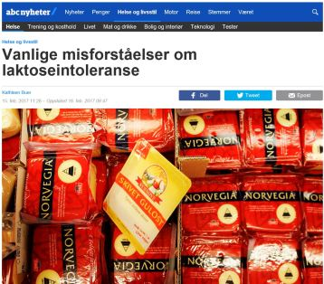 Laktoseintoleranse - misforståelser