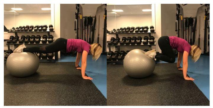 Planke på ball - klinisk ernæringsfysiolog Anne Marie Skjølsvik