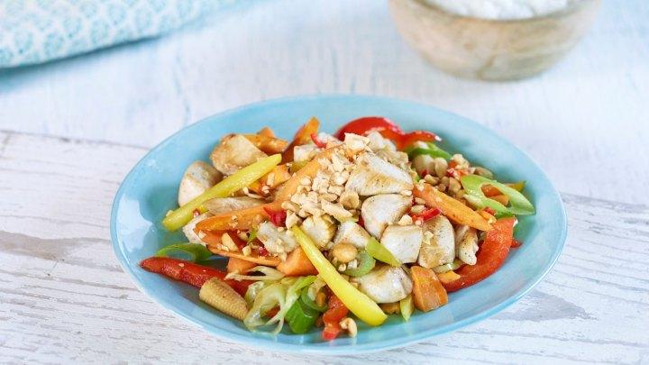 Sunn mat på budsjett - spicy kyllingwok - klinisk ernæringsfysiolog Anne Marie Skjølsvik