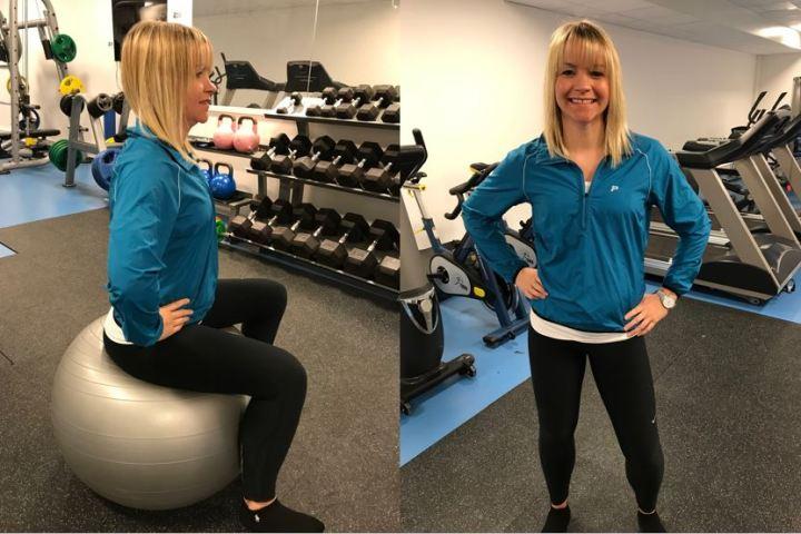 Bekkenrulle på ball eller stående - trening for gravide - klinisk ernæringsfysiolog Anne Marie Skjølsvik