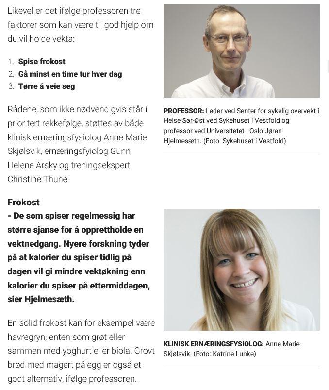 Gå raskt ned i vekt og hold deg der - klinisk ernæringsfysiolog Anne Marie Skjølsvik