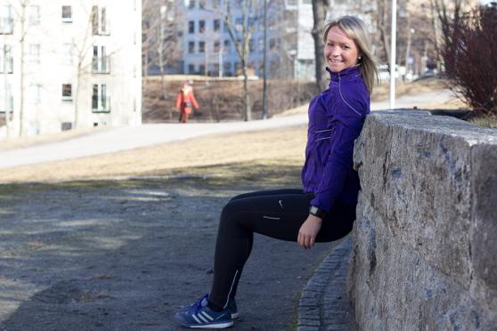 Trening utendørs - klinisk ernæringsfysiolog Anne Marie Skjølsvik