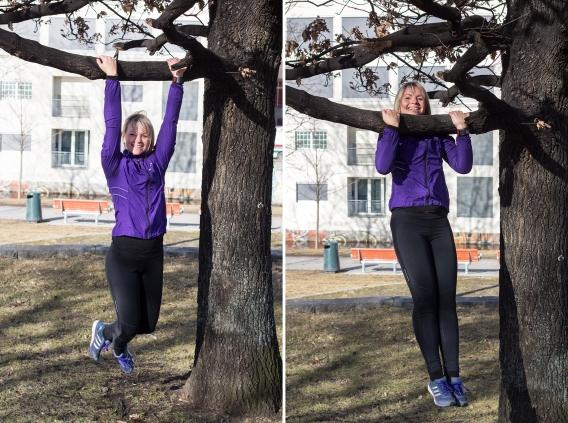 Opptrekk - trening utendørs - klinisk ernæringsfysiolog Anne Marie Skjølsvik