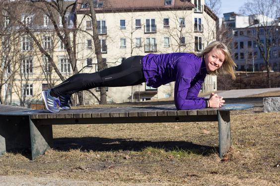 Planken - tips til styrketrening ute - klinisk ernæringsfysiolog Anne Marie Skjølsvik